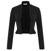 Women's Vintage Cropped Shrug Coat Open Front Long Sleeve Ruffled Bolero Cardigans (S-2XL) - Sapatilhas - $19.99  ~ 17.17€