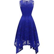 Women's Vintage Floral Lace Cocktail Dress Asymmetrical Handkerchief Hem Party - Haljine - £9.99  ~ 83,50kn