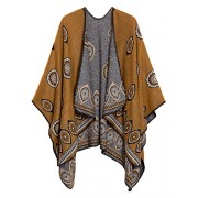 Women's Vintage Pattern Open Front Poncho Cape Shawl - Accessories - $23.80