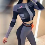 Women's printed contrast sports suit - Vestiti - $25.99  ~ 22.32€