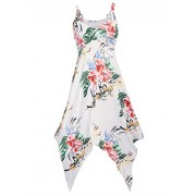 Women's sleeveless Halter Summer Beach Sundress Floral Print Casual Midi Dress - Dresses - $38.99  ~ £29.63