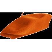 Wool Beret In Orange - Hüte -