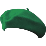 Wool Green French Beret - Hat -