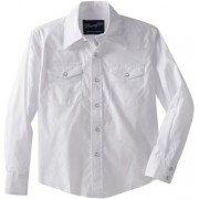 Wrangler Big Boys' Dress Western Solid Snap Shirt - Koszule - krótkie - $15.95  ~ 13.70€