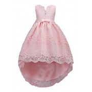 YMING Cute Litter Girls Lace Bridesmaid Swing Birthday Party Swing Dresses - Dresses - $46.99