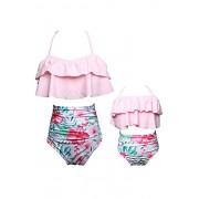 YMING Summer Cute Bikini Set Family Matching Swimwear Mommy and Me Swimsuit - Swimsuit - $25.99