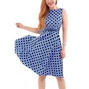 YMING Women Retro Herburn Dress Vintage Swing Party Dress - 连衣裙 - $20.99  ~ ¥140.64