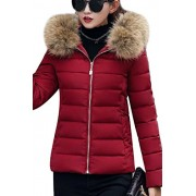 YMING Women's Winter Down Coat Warm Thickened Quilted Parka Jacket with Hood - My look - $71.99