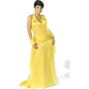 Yellow evening gown - People -