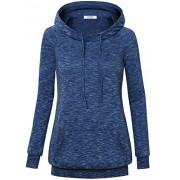 Youtalia Women's Long Sleeve Raglan Funnel Neck Hooded Shirts Casual Lightweight Warm Hoodie Sweatshirt With Kangaroo Pocket - Shirts - $39.99