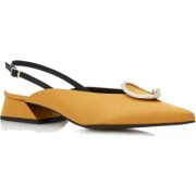 Yuul Yie Embellished Satin Slingbacks - Classic shoes & Pumps - $220.00