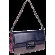 Z Spoke Zac Posen Women's Americana East/West Flap Bag navy colorblock - Bag - $175.00