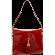 Z Spoke Zac Posen Women's Tassel Shoulder Bag Black Croco - Bag - $341.25