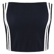 ZAFUL Women Tube Tops Sexy Off Shoulder Bandeau Strapless Crop Tops Pullover Blouse Tube Cami - Top - $8.99