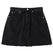 ZAFUL Womens Denim Skirt Mini Summer Pencil Skirts for Women High Waisted Short Skirts - Shorts - $20.99