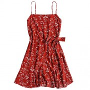 ZAFUL Women's Mini Dress Spaghetti Straps Sleeveless Boho Beach Dress - Dresses - $15.99