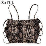ZAFUL Women's Sexy Strappy Open Back Cami Tank Top - Bag - $9.99