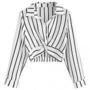 ZAFUL Womens Striped Shirt Long Sleeve T Shirt Casual Loose Shirts Tops Blouse - Long sleeves shirts - $18.49