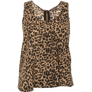 Zip Back Animal Print Chiffon  - Top - £11.99