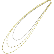 レースチェーン3連ロングネックレス/Gツートーン - Jewelry - ¥21,000  ~ $186.59