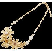 フラワーモチーフネックレス/ゴールド - Jewelry - ¥13,650  ~ $121.28