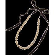 パールリボンネックレス/ブラウン - Jewelry - ¥9,240  ~ $82.10