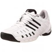 adidas Women's Barricade II Tennis Shoe Run White/Black1/Metallic Silver - Sneakers - $84.95