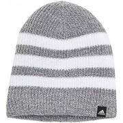 adidas Men's BR9931 Striped Knit Beanie, Grey/White, OSFM - Hat - $49.97