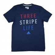 adidas Men's Three Stripe Life Graphic Short Sleeve T-Shirt - Koszule - krótkie - $25.00  ~ 21.47€