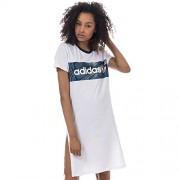 adidas Originals Women's Originals Geology Boyfriend Tee Dress 5 White - Flats - $25.99