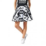 adidas Originals Women's Originals Typo Skirt 2 Black - 平鞋 - $23.99  ~ ¥160.74