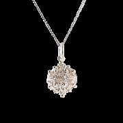 ドブロブニクのボタン ペンダントヘッド(シルバー) 大 - Necklaces - ¥4,300  ~ $38.21