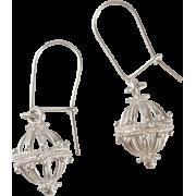 ドブロブニクのボタンイヤリング(シルバー)ゼムリャ /zem - Earrings - ¥12,000  ~ $106.62