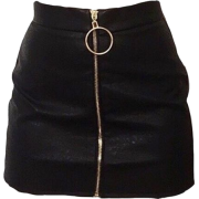 black zip front skirt - Krila -