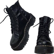 combat boots - Škornji -