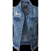 crop denim vest - Jacket - coats -