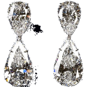 crystal diamond - Earrings -