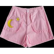 cute lace moon soft sister college casua - Shorts - $17.99