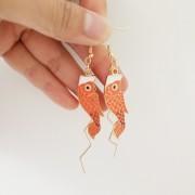 fish earrings - My look - $8.00