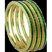 green bangles - Bracelets -