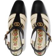 gucci Leather mid-heel t-strap sandal - Sandals - $1,250.00