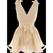 Haljina Dresses Beige - Vestidos -