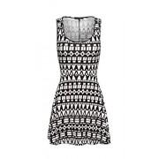 &harmony Women's Sleeveless Shift Dress - Black and White Patterns - Dresses - $6.99  ~ £5.31