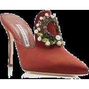 manolo Blanhnik Burnt orange mules - Классическая обувь -