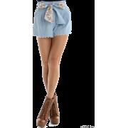 CECIL McBEE(セシルマクビー)花柄切替デニムショートパンツ - 裤子 - ¥4,935  ~ ¥293.80