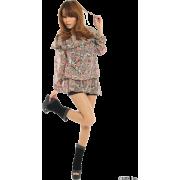 FREE'S MART(フリーズマート)フラワーシフォンブラウス - 长袖衫/女式衬衫 - ¥4,410  ~ ¥262.54