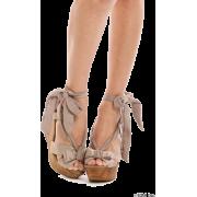 MERCURYDUO(マーキュリーデュオ)リボンウェッジサンダル - 凉鞋 - ¥13,965  ~ ¥831.38