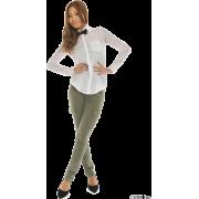 SLY(スライ)蝶ネクタイ付SH - 长袖衫/女式衬衫 - ¥7,875  ~ ¥468.82