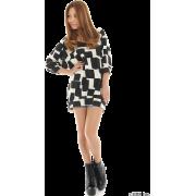 rienda(リエンダ)変形ブロックチェックDRESS-T - Long sleeves t-shirts - ¥5,980  ~ $53.13