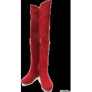 rienda(リエンダ)フラットFスエードニーハイブーツ - Boots - ¥12,980  ~ $115.33